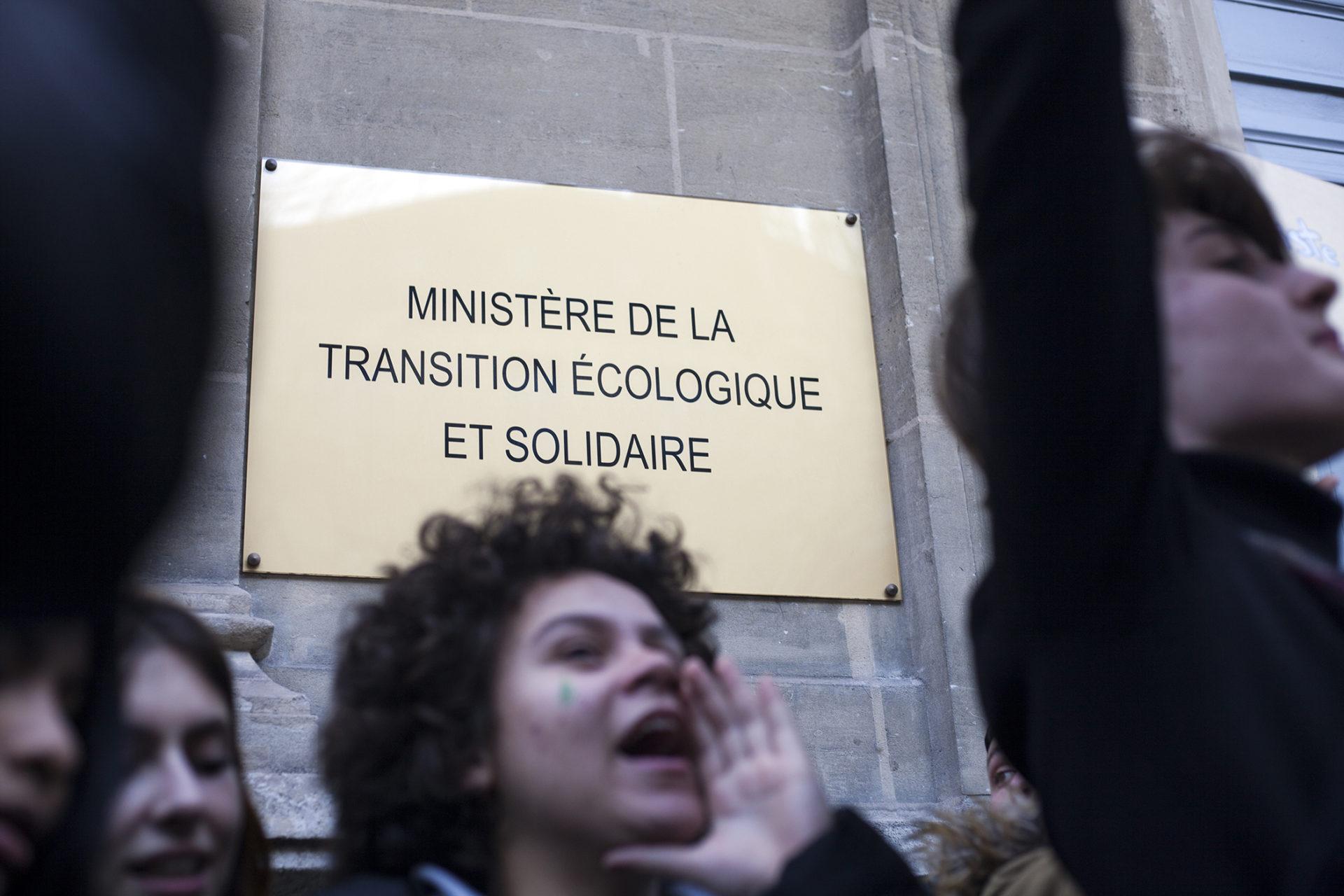 15 février 2019 à Paris, première grève du climat des lycéens et étudiants