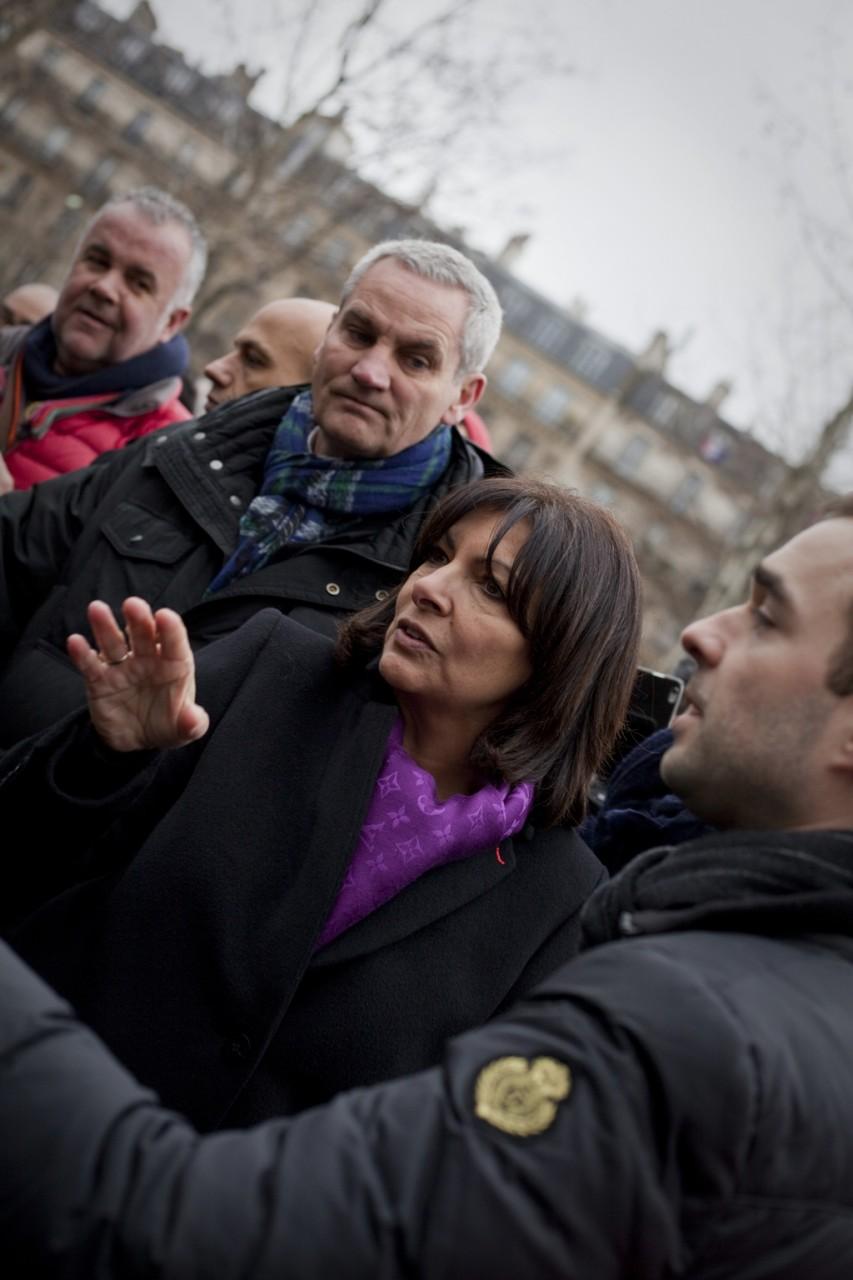 Anne Hidalgo, maire de Paris - Janvier 2016 / Paris