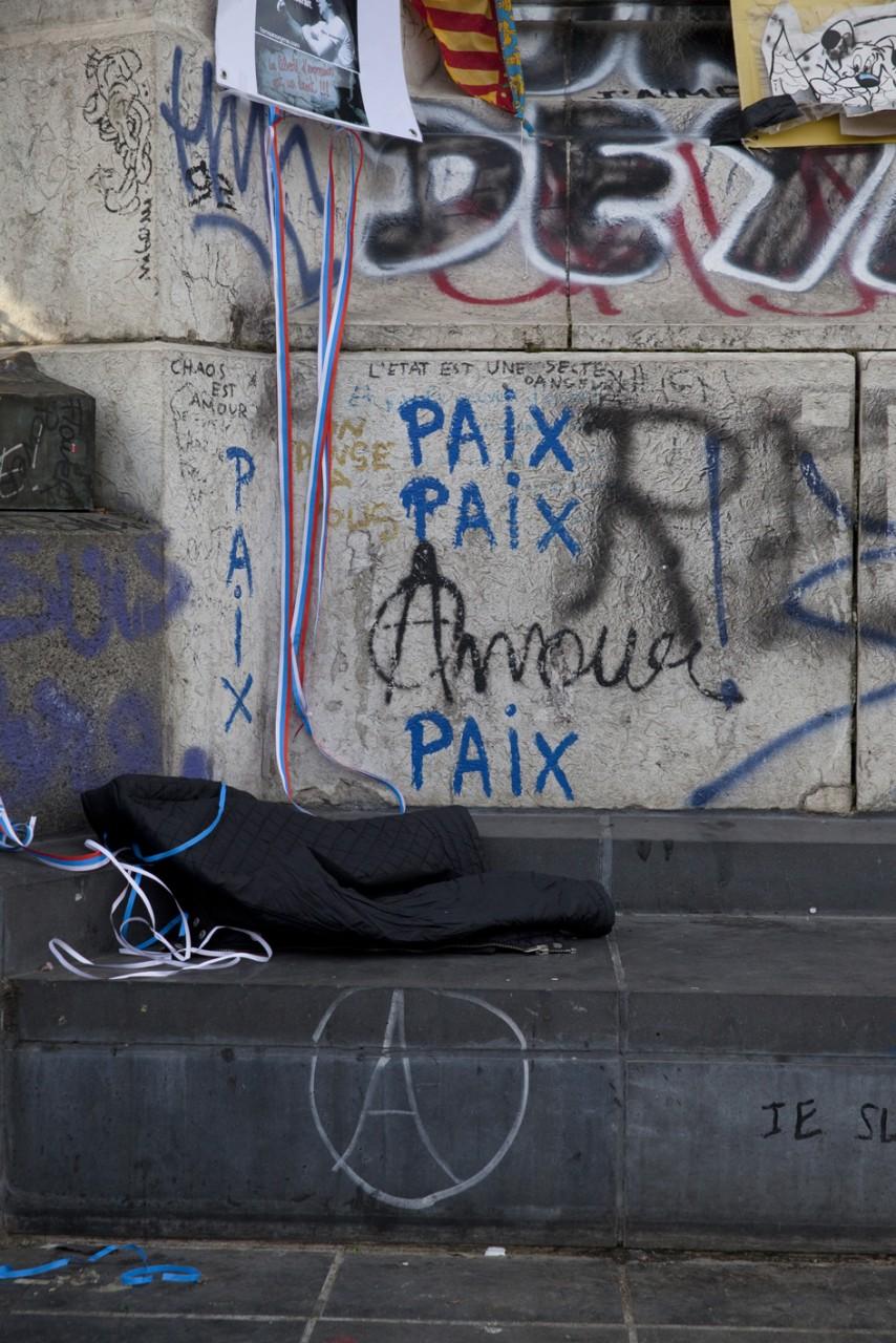 Recueillement à République suite aux attentats de Nice - Juillet 2016 / Paris