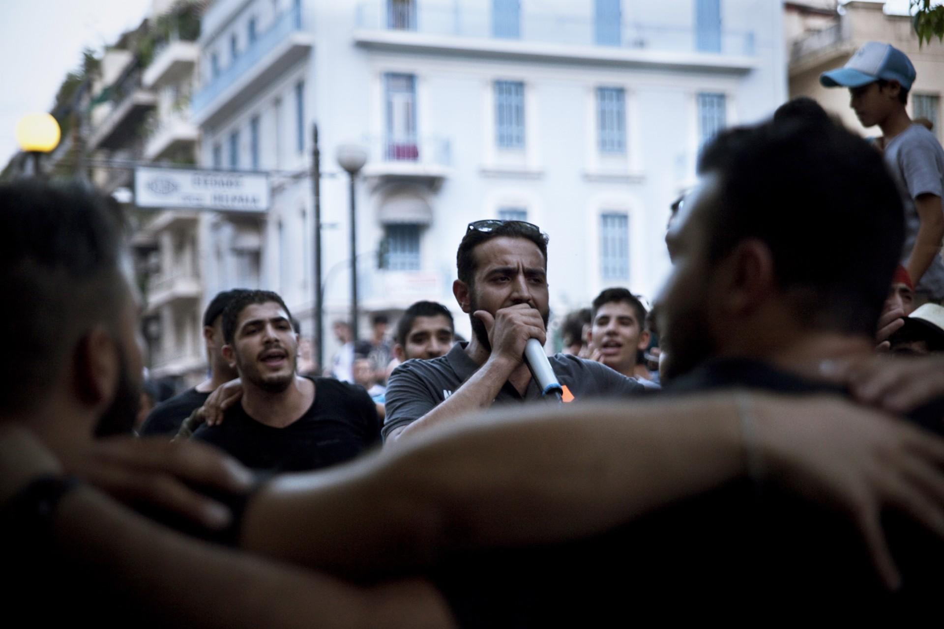 Manifestation de réfugiés à Athènes - Septembre 2016