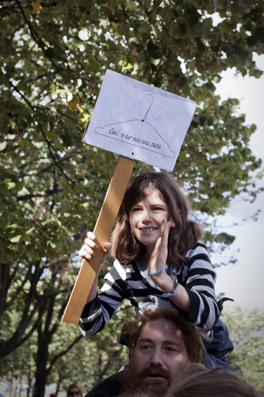 Manifestation de soutien contre la loi anti-IVG en Pologne - Octobre 2016 / Paris