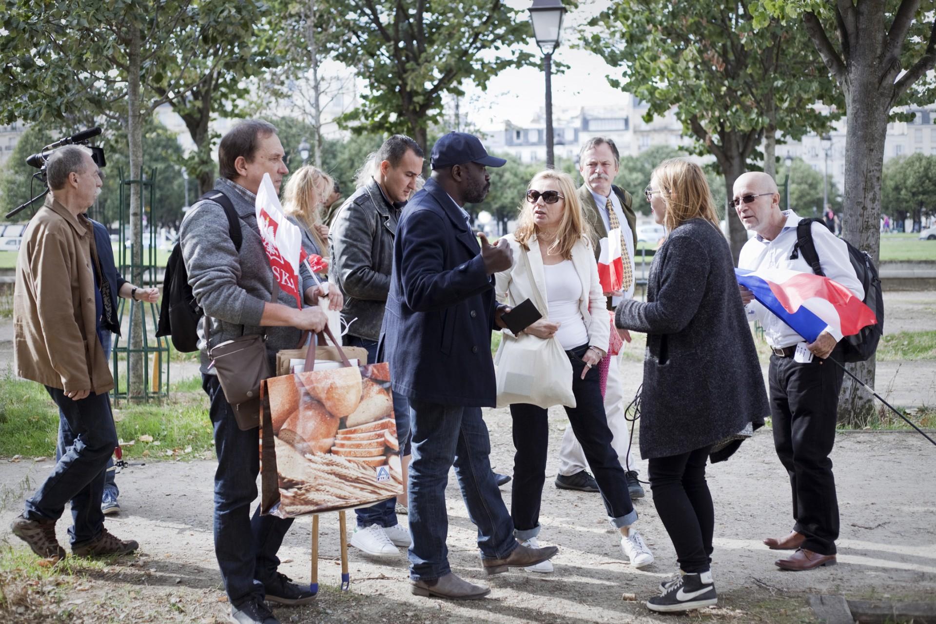 Manifestants favorables à la loi anti-IVG polonaise - Octobre 2016 / Paris
