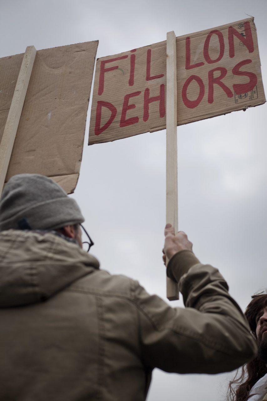 Rassemblement contre la corruption des élus - Février 2017 / Paris
