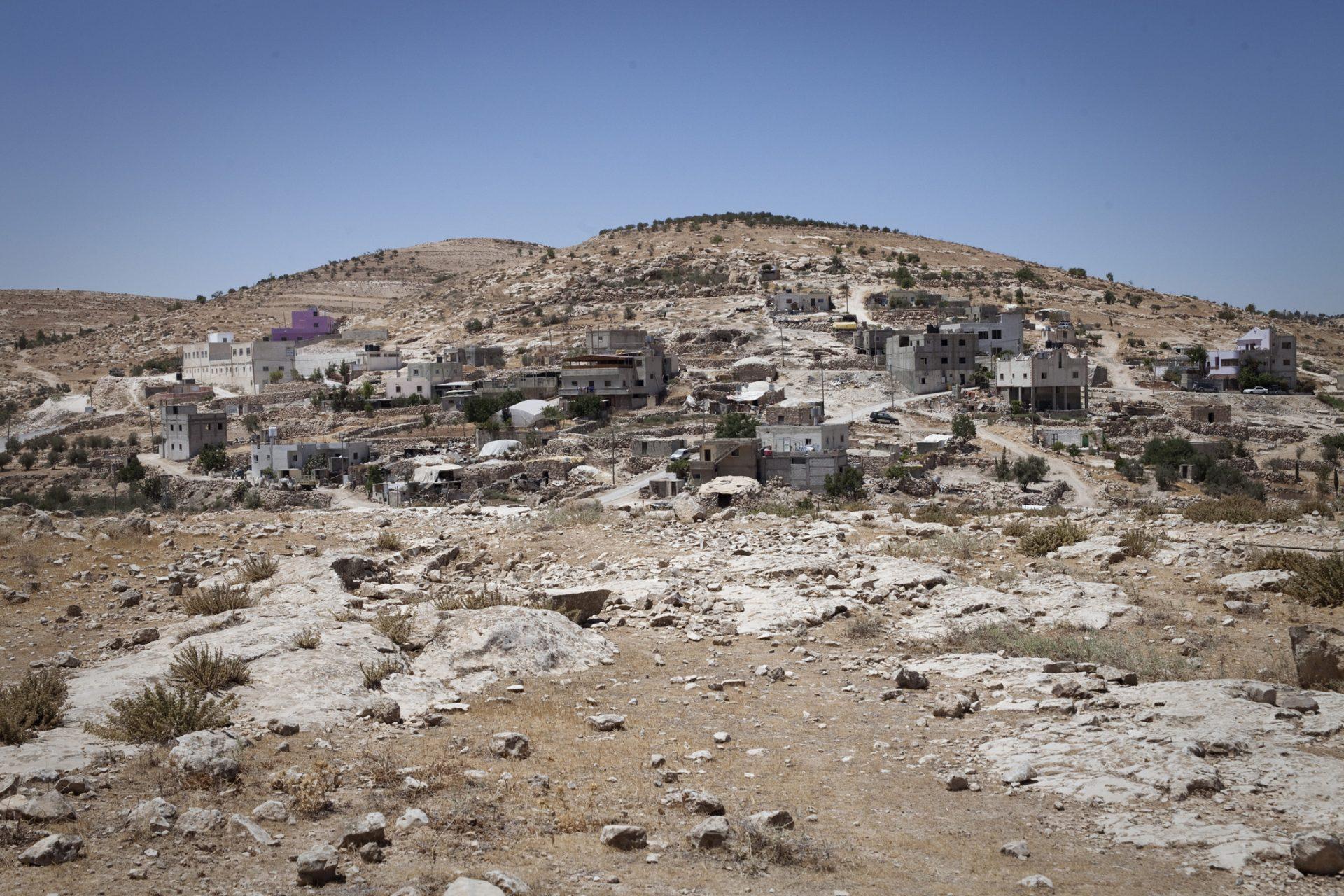 Le village d'At-Tuwani, situé dans les Territoires Palestiniens (zone C, contrôlée par Israël pour la sécurité et l'administration)
